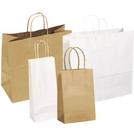 Kraft Shopping Bags - Sold per Case
