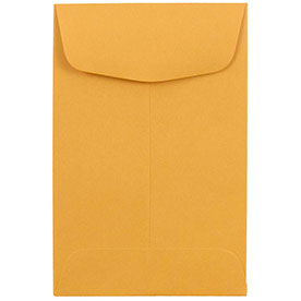 Brown #4 Coin Envelopes - 3 x 4 1/2