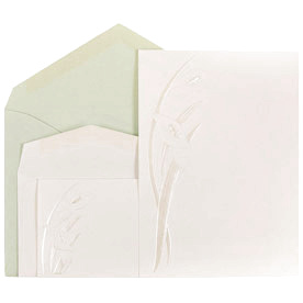 Embossed Calla Lilly Wedding Invitation Sets