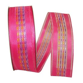Pink Sheer Stripe Ribbon