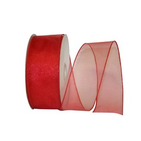 Red Sheer Wired Ribbon