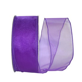 Purple Sheer Wired Ribbon