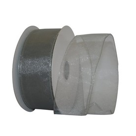 Silver Sheer Wired Ribbon