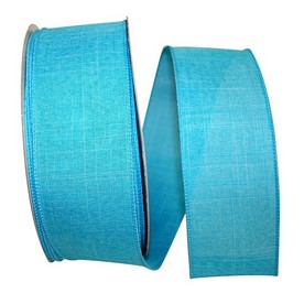 Blue Linen Wired Ribbon