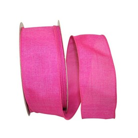 Pink Linen Wired Ribbon