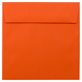 Orange 5 1/2 x 5 1/2 Square Envelopes