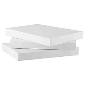 10 7/8 x 7 7/8 x 1 1/4 White Small Gift Boxes