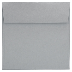 Silver and Grey 7 1/2 x 7 1/2 Square Envelopes