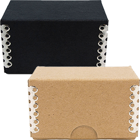 Business Card Box with Metal Edge