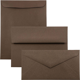 Chocolate Brown Recycled Envelopes & Paper