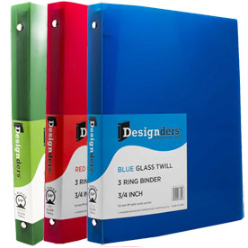 Clear Grid 0.75 inch Binders