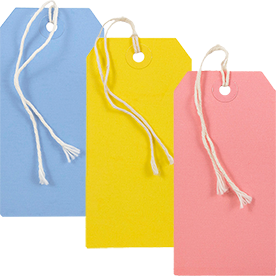 Color Gift Tags with String