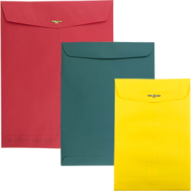 Colored Clasp & Open End Envelopes