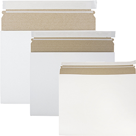 White Expandable Photo Mailers