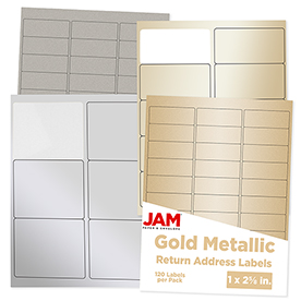 Silver & Gold Metallic Labels