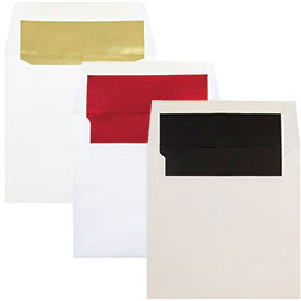 Foil Lined Square Envelopes