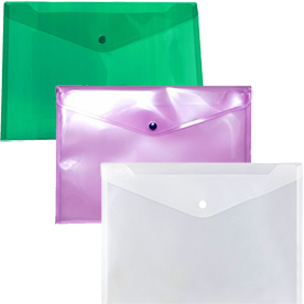 Plastic Grid Snap Envelopes
