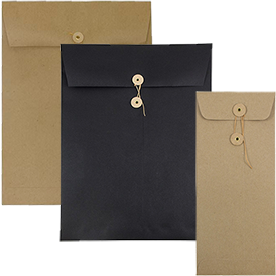 Paper Button & String Envelopes