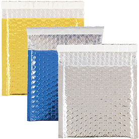 Square Bubble Mailers - Peel & Seal Closure