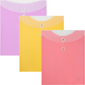 Two-Tone Button & String Envelopes