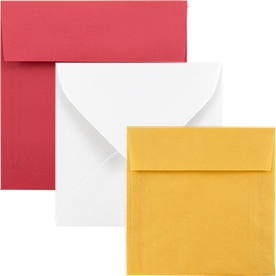 Bright White & Color Square Envelopes