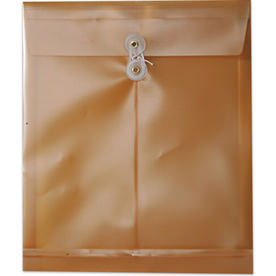Gold Plastic Envelopes with Button String Closure