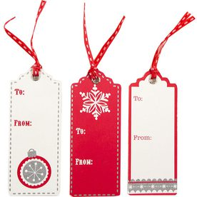 Holiday Gift Tags with String