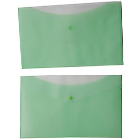 Plastic Two-Tone Legal Envelopes with Snap
