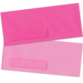 Pink #10 Window Envelopes