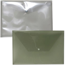 Smoke Grey Plastic Envelopes with Snap Closure