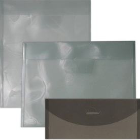 Smoke Plastic Envelopes with Tuck Flap Closure
