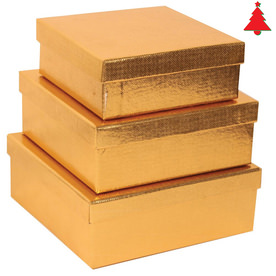 Gold Square Gift Box Nesting Set