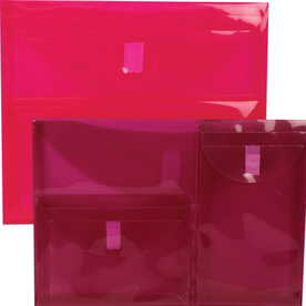 Pink Multi Pocket Envelopes-VELCRO® BrandClosure