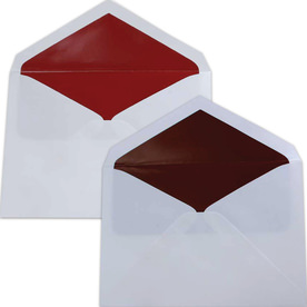 Red Lined Wedding Envelopes