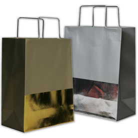 Foil Metal Handle Shopping Bags