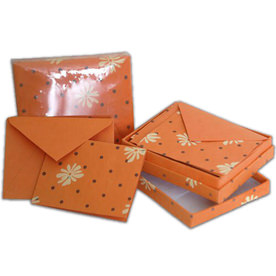 Handmade Recycled Foldover Cards Sets in Box