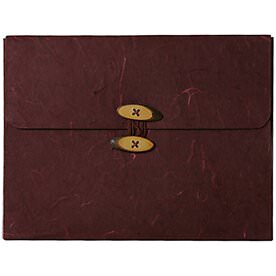 Burgundy Rainforest Button & String Portfolio