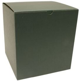 8 x 8 x 8 1/2 Hunter Green Open Lid Gift Box