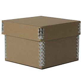 4 1/4 x 4 1/4 x 3 Recycled Brown Kraft Box