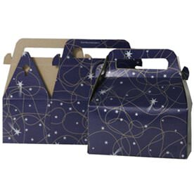 3 1/4 x 6 x 3 Purple Shooting Stars Gable Box