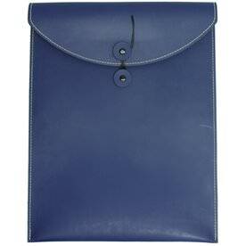 Blue Leather Button & String Closure Envelopes