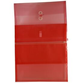 Red Letter Booklet Plastic Envelopes - 9 3/4 x 13