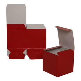 4 x 4 x 4 Red Glossy Gift Box