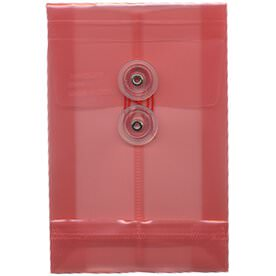 Pink A6 Plastic Envelopes - 4 1/4 x 6 1/4