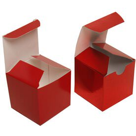 2 x 2 x 2 Red Gift Boxes
