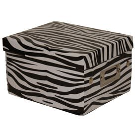 6 3/4 x 8 5/8 x 5 1/8 Black & White Zebra Box