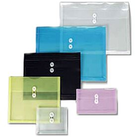 Plastic Envelopes with Button & String Closure