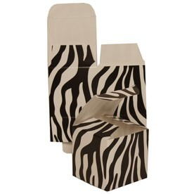 2 x 2 x 2 Black & White Zebra Gift Box