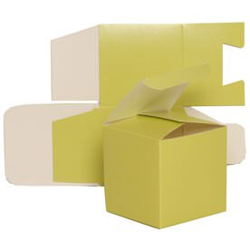 3.5 x 3.5 x 3.5 Lime Green Glossy Gift Box