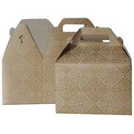 4 x 8 x 5 1/4 Brown Kraft Gable Boxes